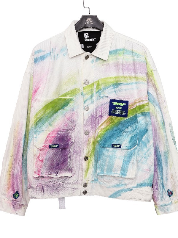 MWM - Man Vintage Tie Dye Denim Jacket